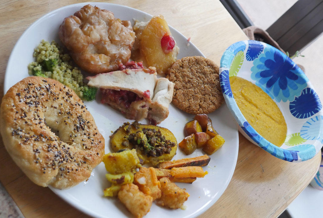 plate of vegan food April 2017
