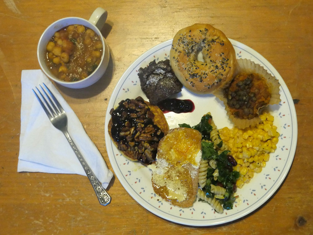 plate of vegan food May 2017