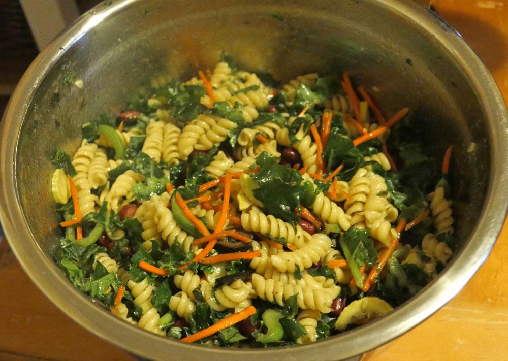 vegan garden pasta salad