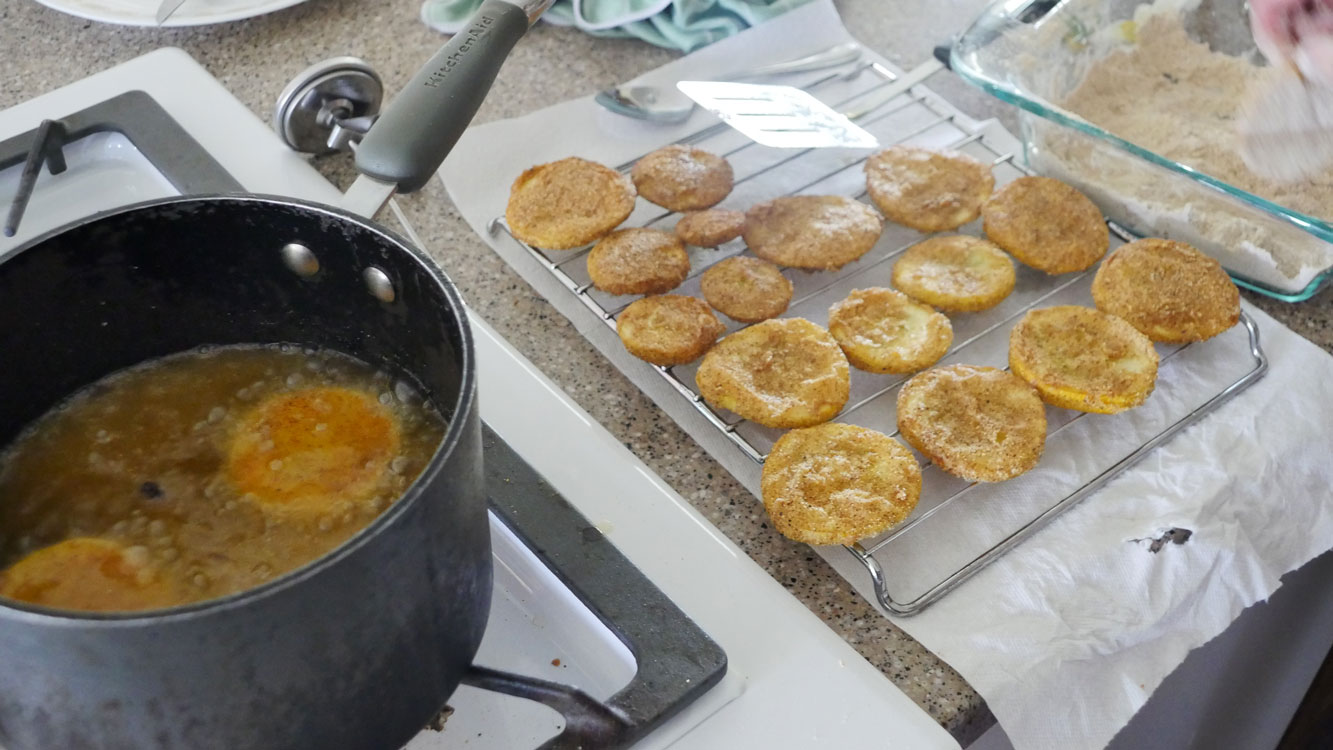 frying yellow squash