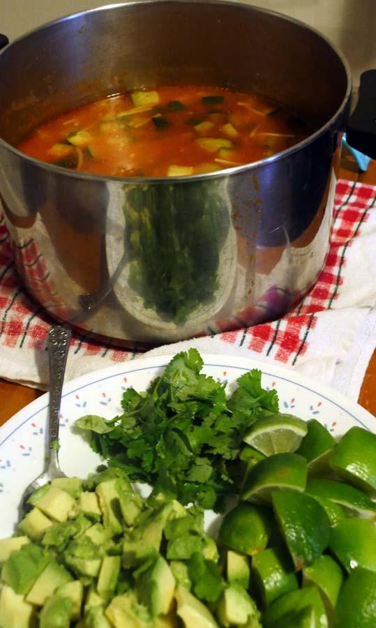 vegan sopa de fideo