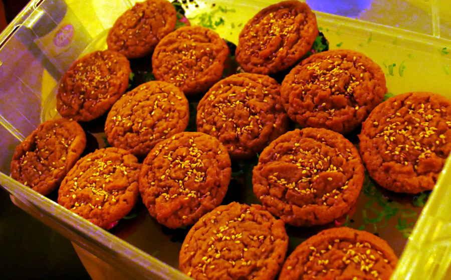 vegan burger cookies