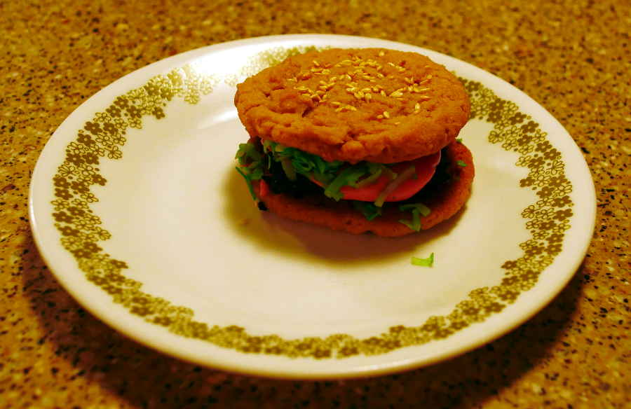 vegan cookie burger