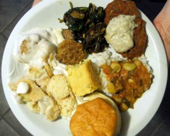 plate of vegan soul food