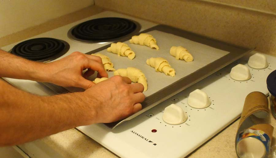 making crescent rolls