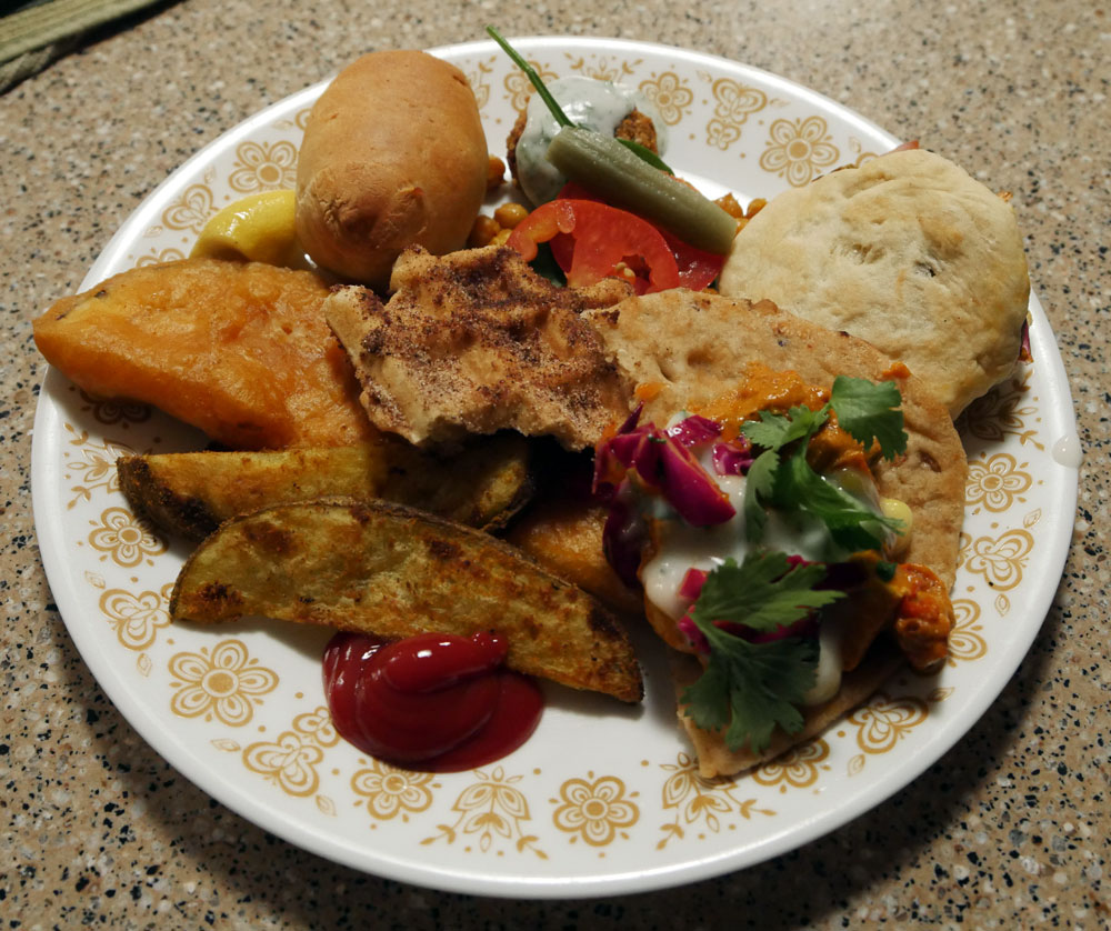 plate of vegan street food