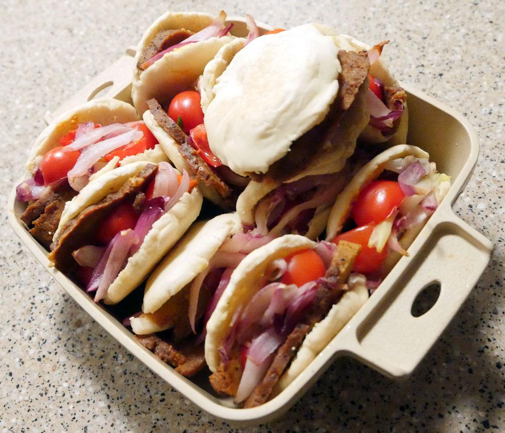 vegan shawarma sandwiches