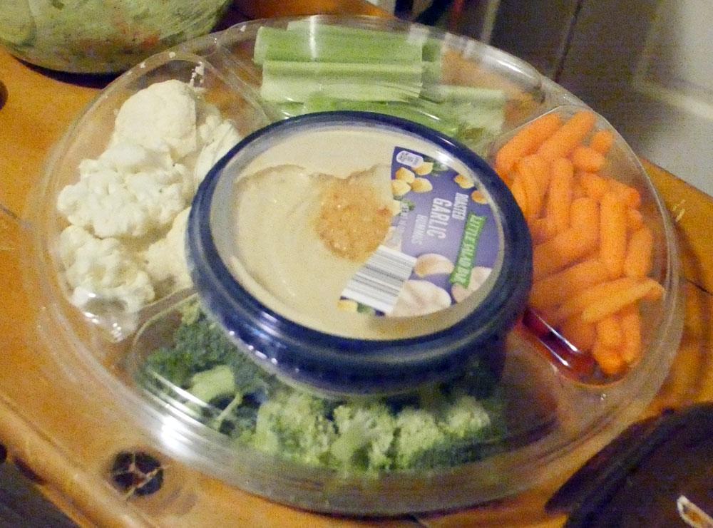 veggie tray with hummus