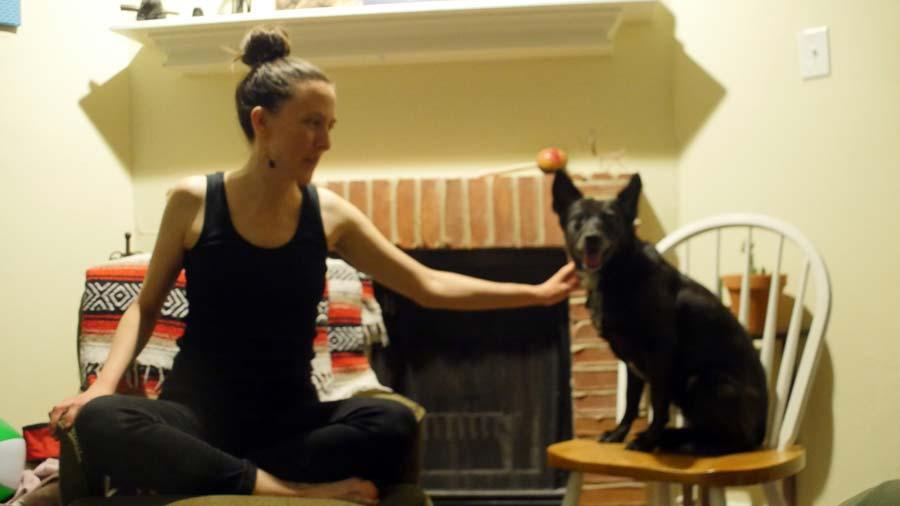 Caroline and dog Macy