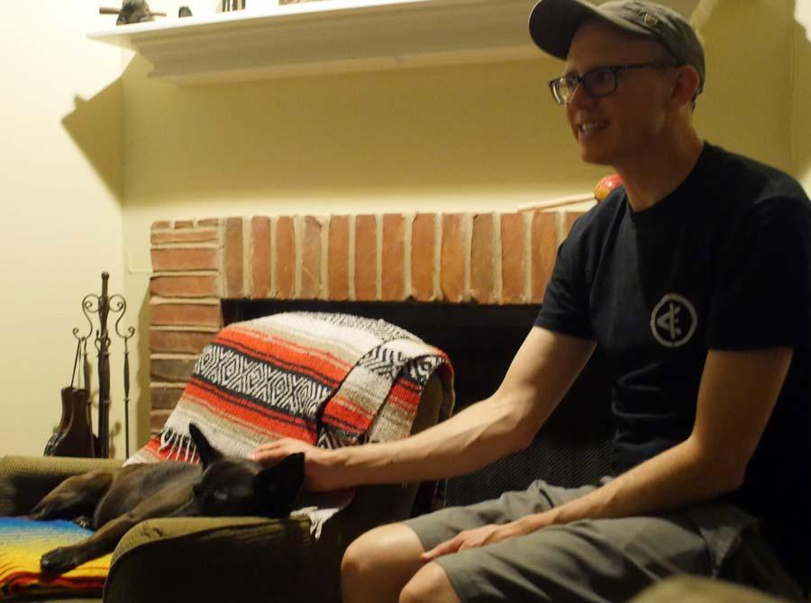 John and dog Macy