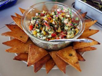 pico de gallo and chips