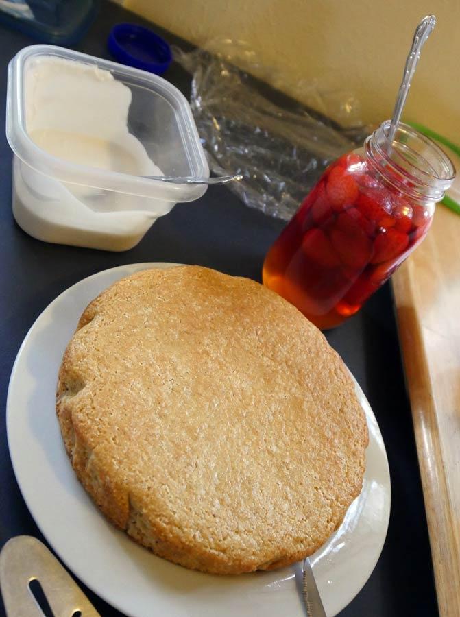 pickled strawberry shortcake