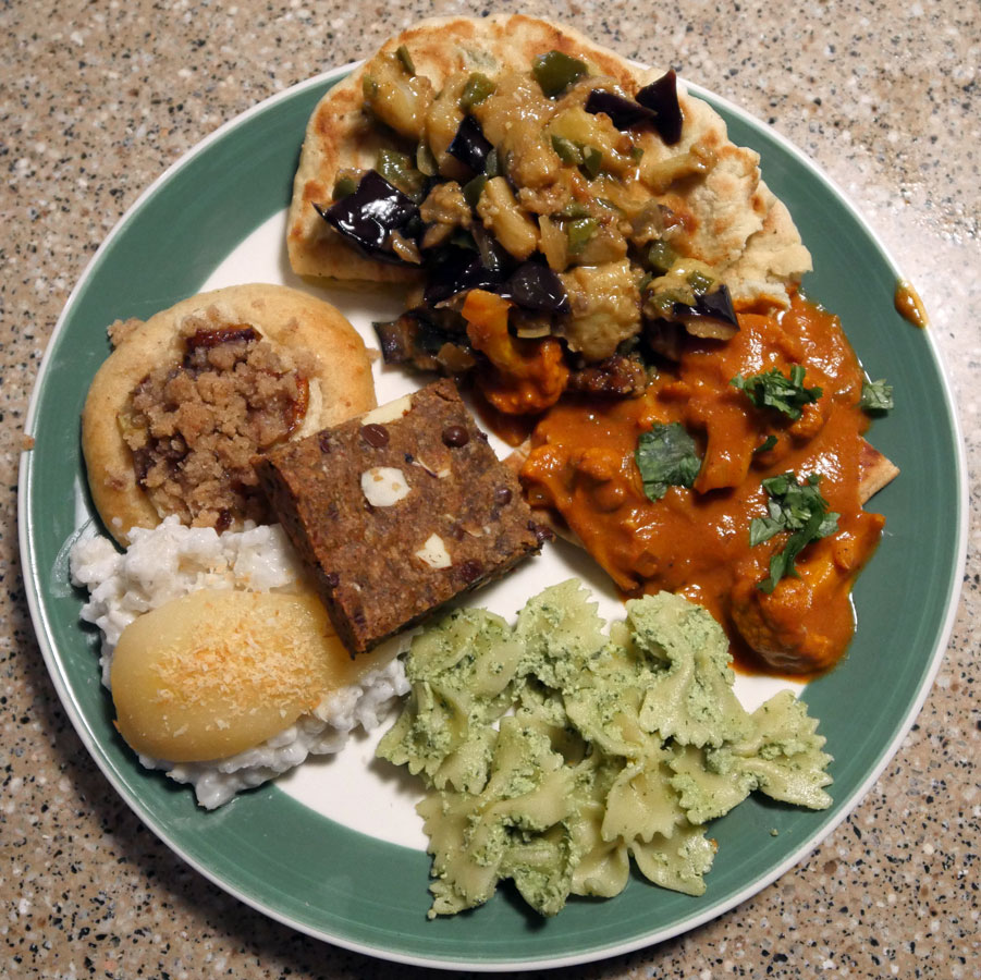 plate of vegan food
