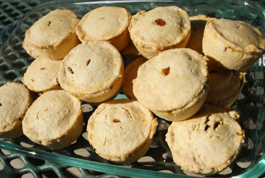 vegan mushroom picnic pies