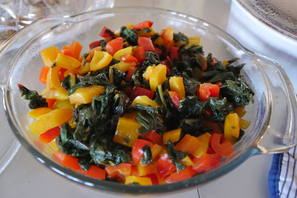 Swiss chard and peppers