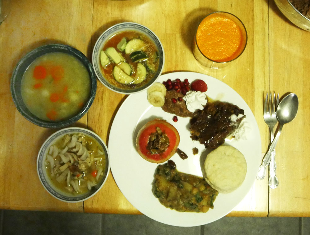 plate of vegan sick foods