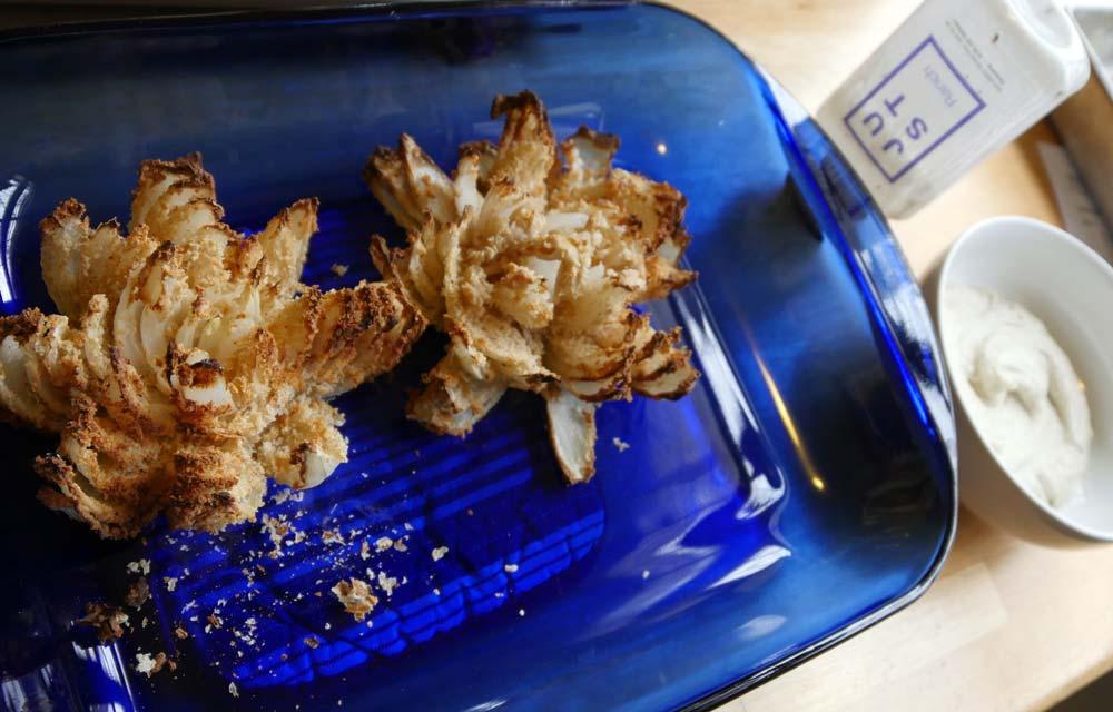 vegan air fried onion