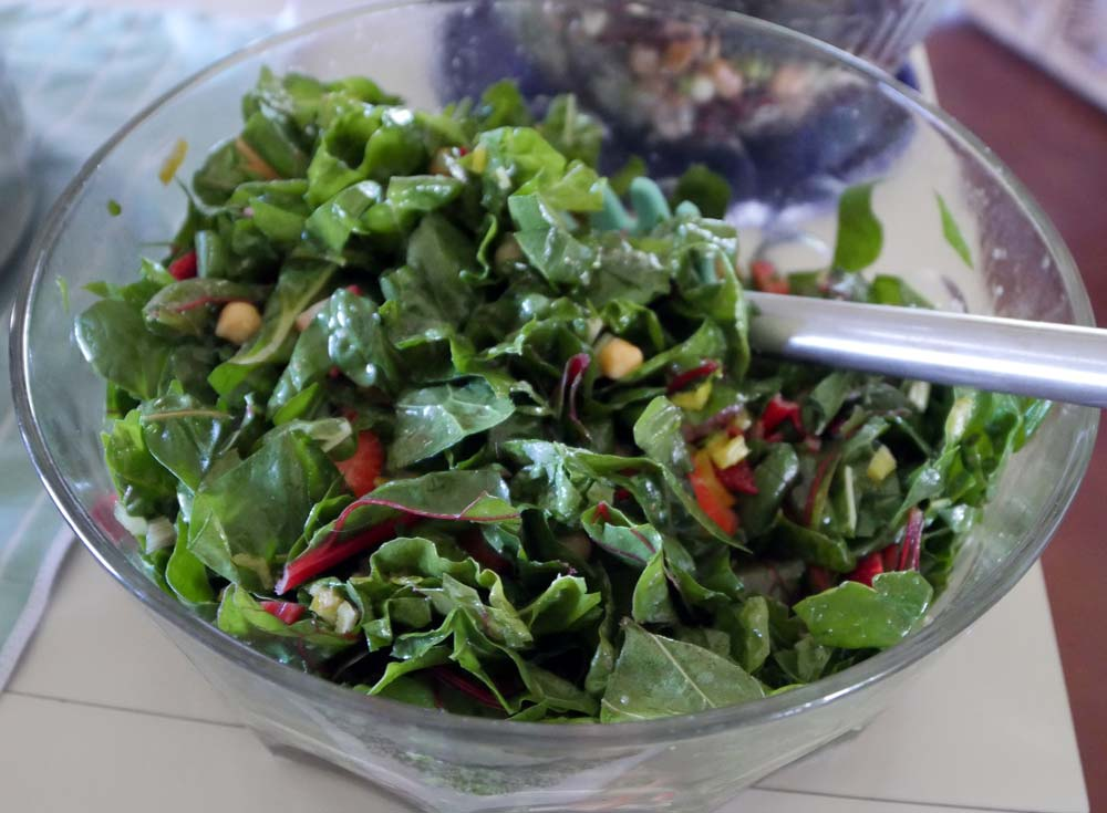 chard and strawberry salad