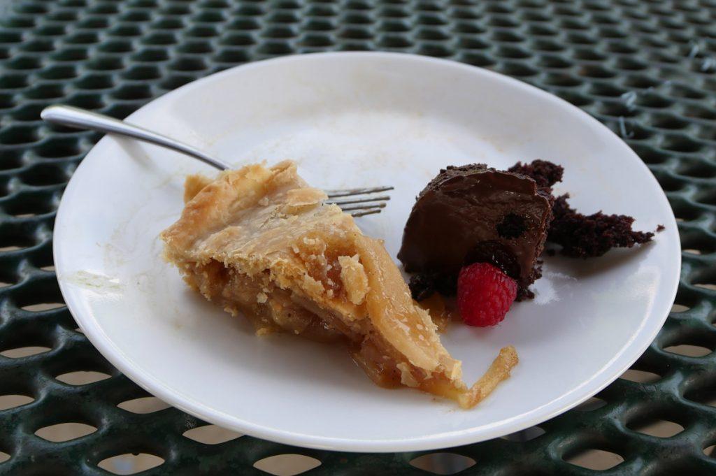 vegan dessert plate