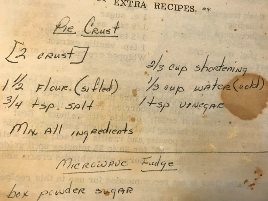 Shannon's family pie crust recipe