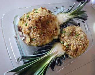 vegan pineapple fried rice