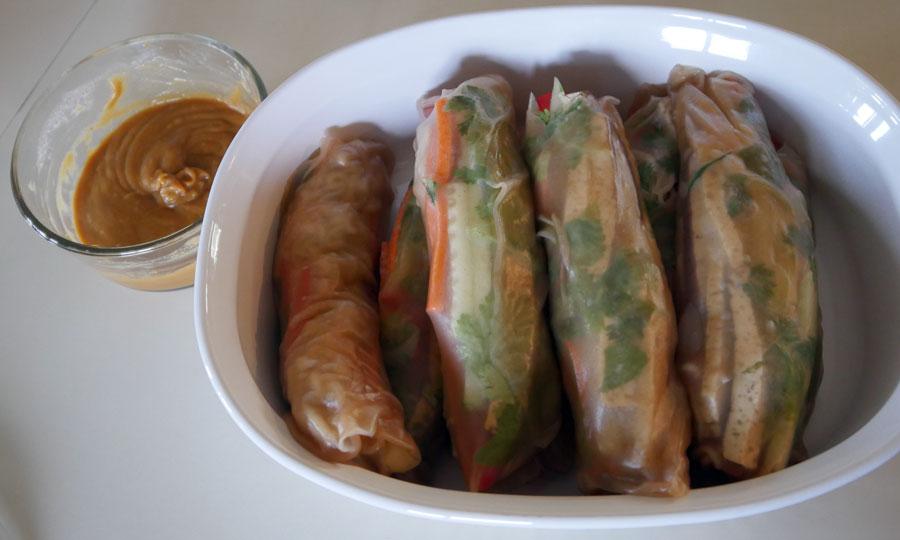 vegan fresh spring rolls