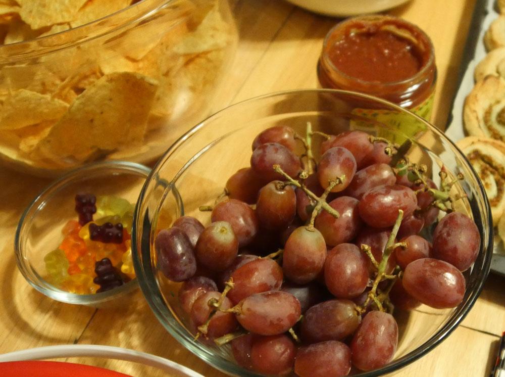 grapes and vegan gummies
