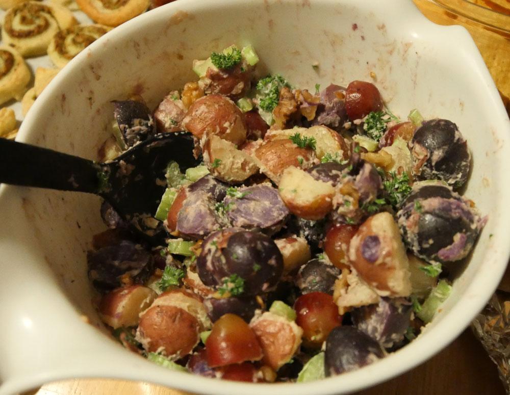 vegan Waldorf potato salad