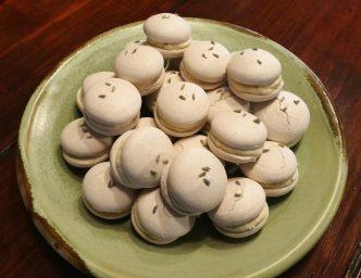 vegan lavender macarons
