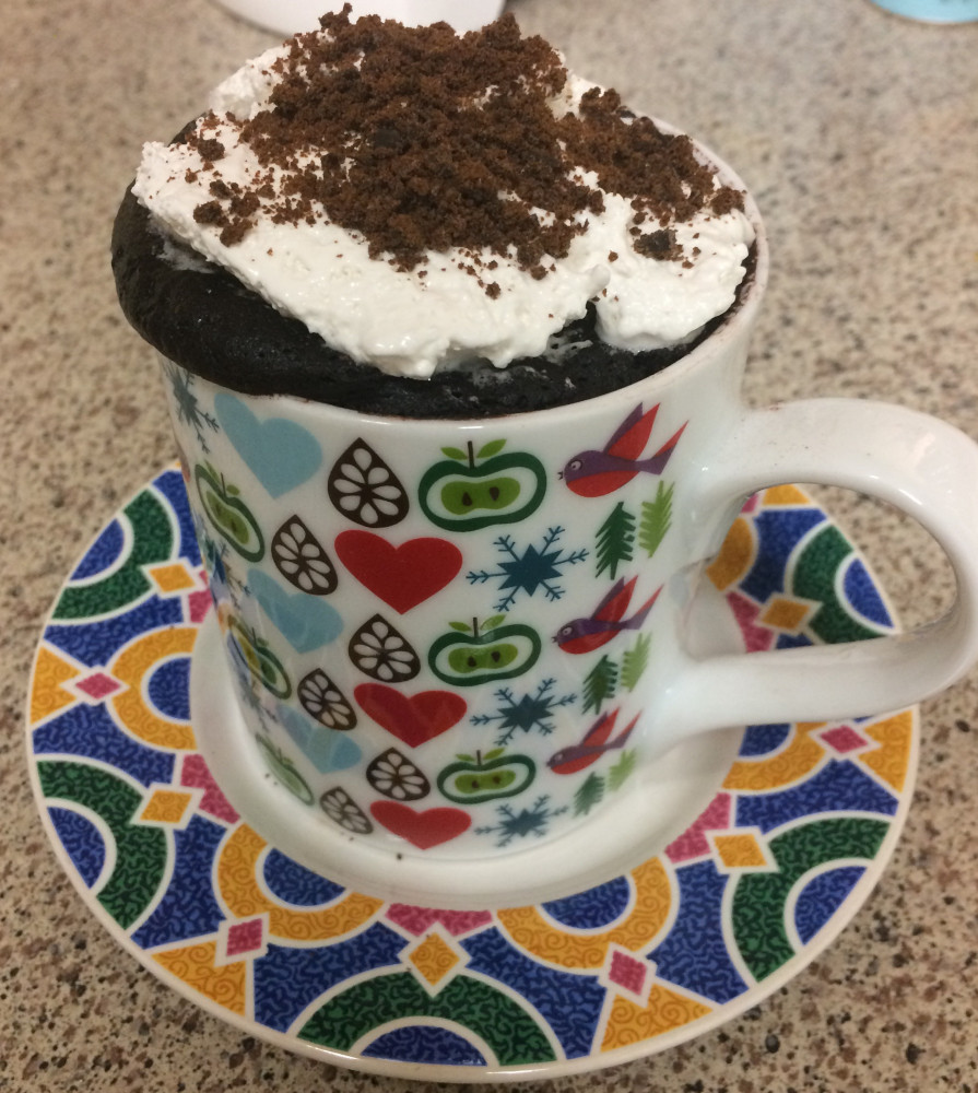 vegan chocolate mint mug cake