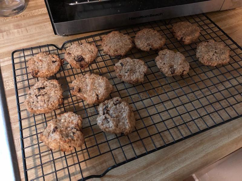vegan banana raisin oatmeal cookies