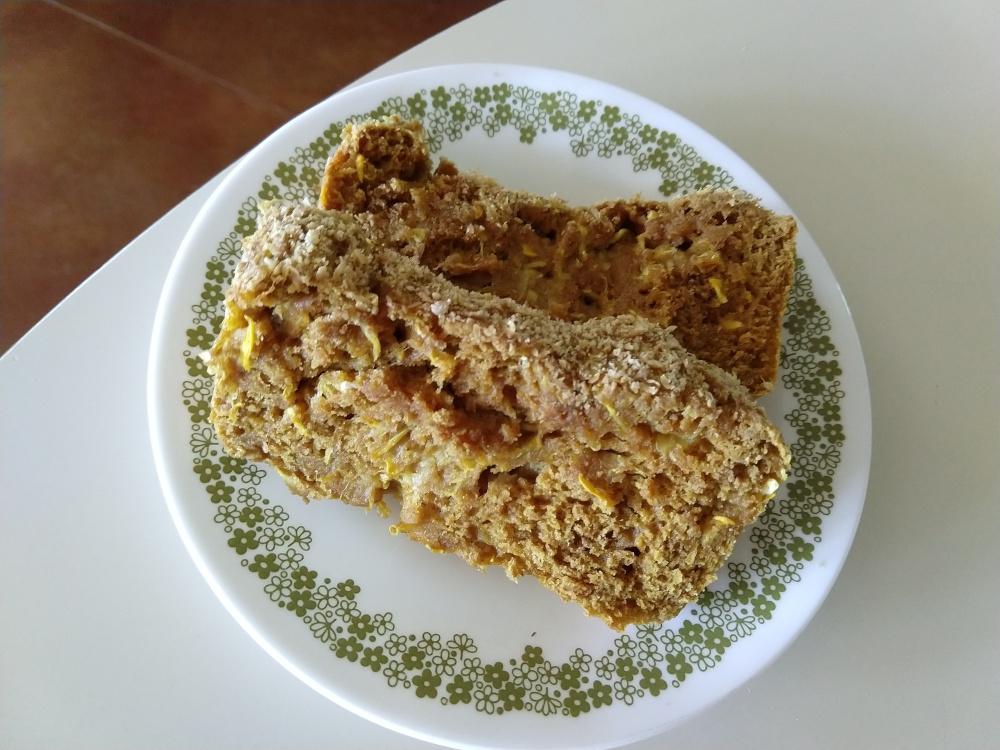 vegan lemon yellow squash bread