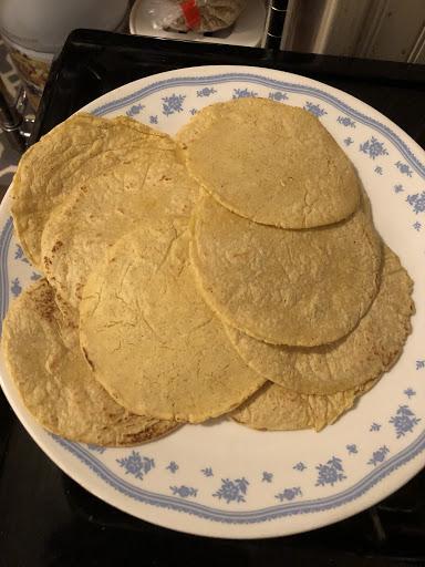 plate of corn tortillas