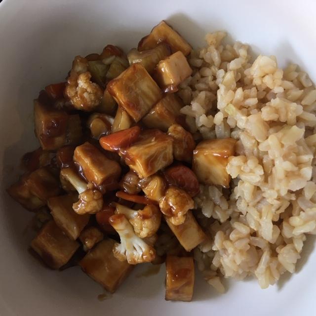tofu stir fry with rice