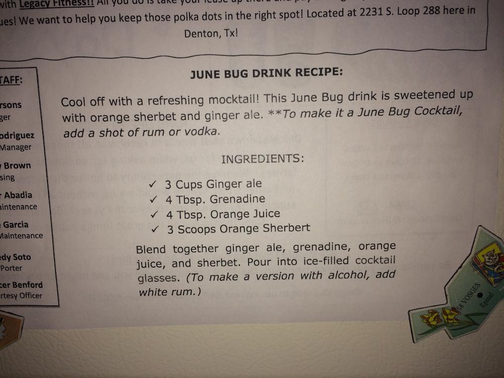June bug drink recipe
