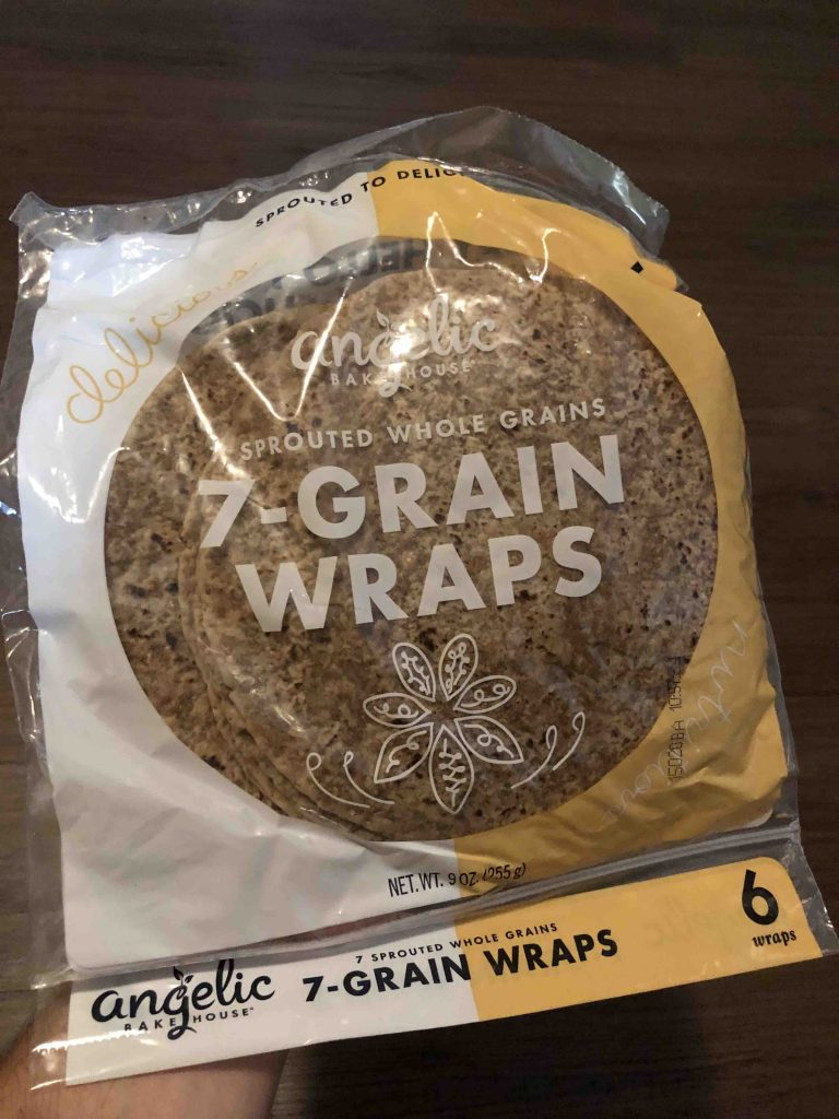bag of bread wraps