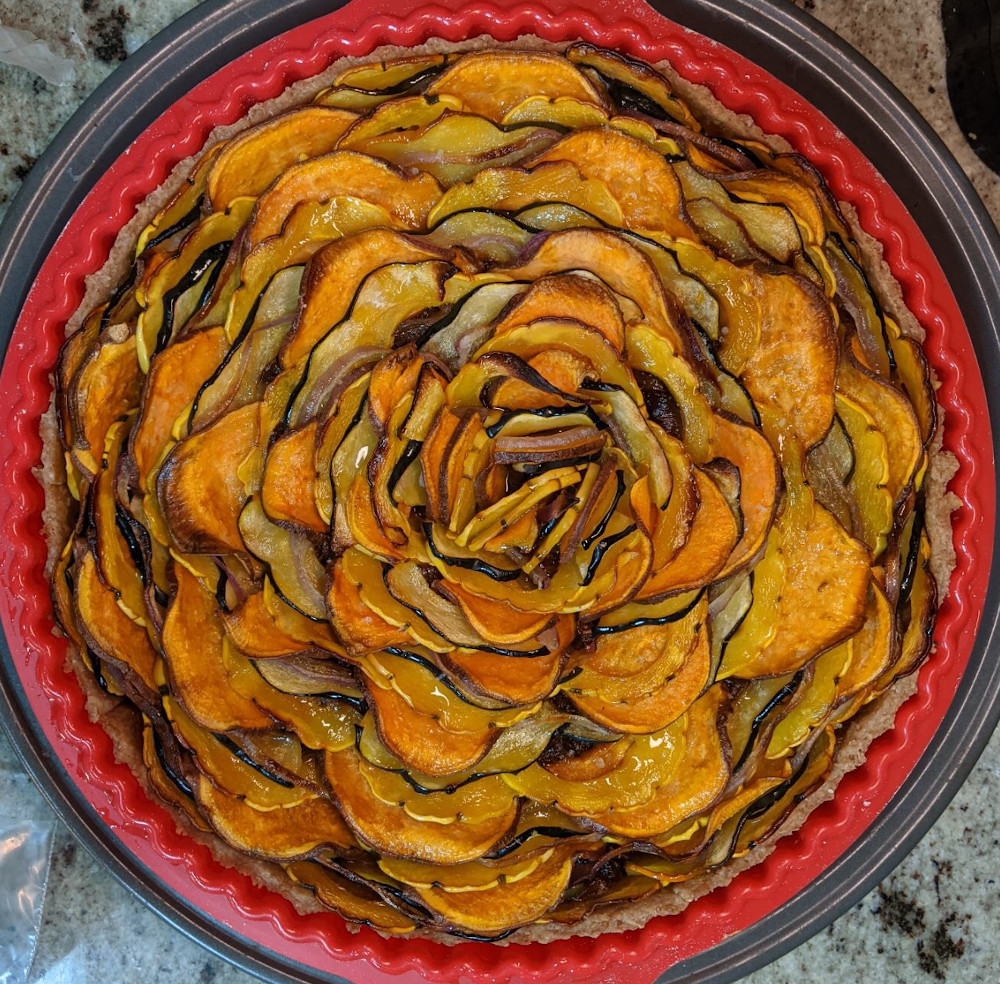 squash and onion tart