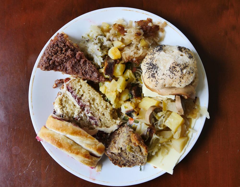plate of German vegan food