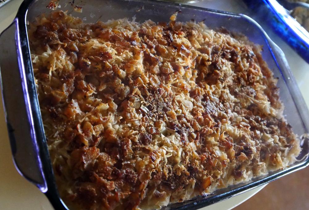 Potato Sauerkraut Casserole