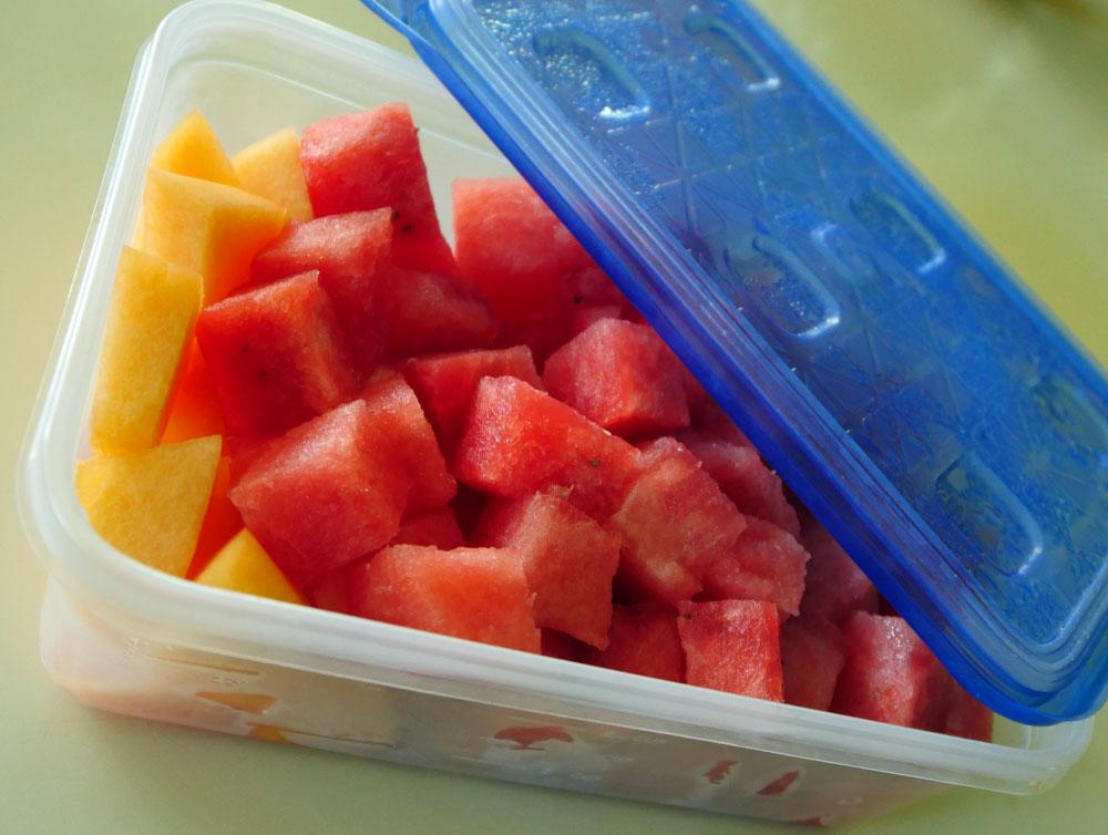 chunks of watermelon